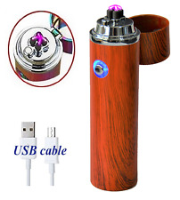 Electric Windproof Flameless Lighter USB Dual Arc Cigarette Plasma Rechargeable