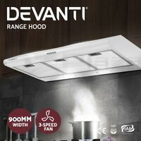 Devanti Rangehood 900mm Range Hood 90cm Kitchen Canopy White