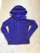 Zella Activewear (Nordstrom)Full Zip Hooded Jacket SZ S Purple Cotton Blend GUC