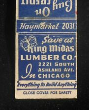 1940s King Midas Lumber Co. 2221 South Ashland Ave. Plywood Nails Chicago IL