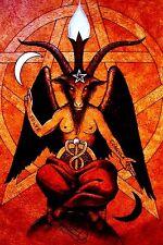 Baphomet Satan Pentagram Devil Wicca Heavy Metal Sticker Or Magnet