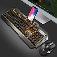 Mini Wireless Keyboard And Mouse Set Game Backlight 2400dpi For PC Computer