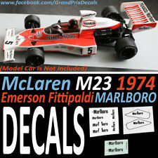 Formula 1 Auto Collection DECALS - Marlboro McLaren M23 1974 Emerson Fittipaldi