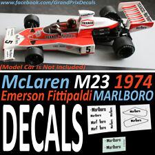 Formula 1 Car Collection DECALS - Marlboro McLaren M23 1974 Emerson Fittipaldi