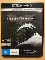THE DARK KNIGHT RISES 4K UHD/BLU-RAY + BLU-RAY 3-DISC NEW REGION B
