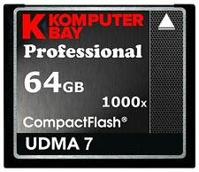 KOMPUTERBAY 64GB Professional COMPACT FLASH CARD CF 1000X 150MB/s Extreme Speed