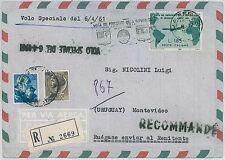 ITALIA storia postale - VOLI SPECIALI : Volo presidente GROCHI 1961