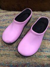 Sloggers Women's 8 Rain Muck Mud Garden Slip On Pink Clogs Mules Rubber Shoes