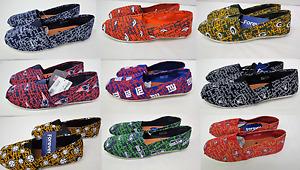 NFL Women's Canvas Script Slip On Shoes Toms Style