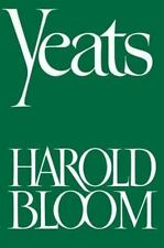 Yeats (LITERARY CRITICISM, POETRY), Bloom, Harold, Acceptable Book