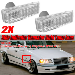Side Fender Turn Signal Light Lamp-Repeater Cover For Benz W124 R129 W14