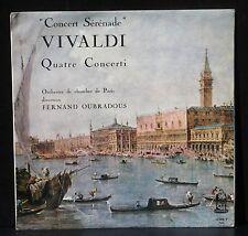 Vivaldi 4 concerti Fernand Oubradous Orphée 52068 Autographed 1964 LP EX+/NM-