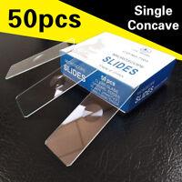 50 pieces Reusable Laboratory Educational Single Concave Microscope Glass Slides