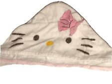Hello Kitty Bonjour Towel With Kitty Face Hood 2'x4' 100% Cotton