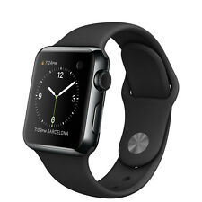 Apple Watch 38mm Space Black Stainless Steel Case Black Sport Band - (MLCK2LL/A)