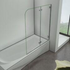 100x140cm Badewannenaufsatz Duschabtrennung ESG Glas Dusche Badewannen-Faltwand