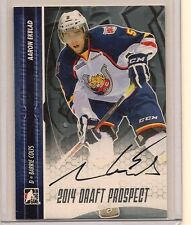 AARON EKBLAD 2014 LEAF IN THE GAME ITG DRAFT PROSPECTS ON CARD SILVER AUTO