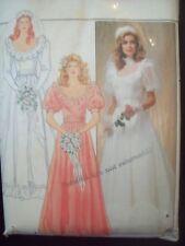Vintage Wedding Gown Dress Pattern Butterick 4765 Size 10 Uncut Factory Fold