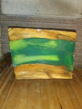 Live Edge Driftwood Green Epoxy River Table Top