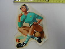Wasser od. Schiebebild Aufkleber PIN UP Girl Sammelbild Nostalgie Rarität 70er J