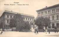 7987) BOLOGNA, GIARDINO MINGHETTI, PALAZZO DELLE POSTE. ANIMATA. VG NEL 1909.