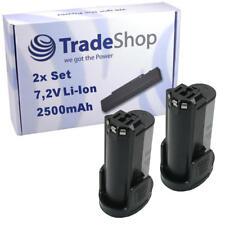 2x Trade-Shop AKKU 7,2V 2500mAh Li-Ion für Dremel 8100 Multifunktionswerkzeug