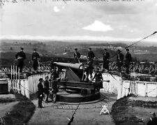 New 8x10 Civil War Photo: Parrott Gun of 3rd Massachusetts, Fort Totten