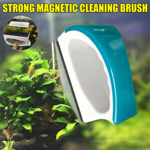 Magnetic Aquarium Cleaner Brush Fish Tank Strong Clean Dead Ends Scratch-Free
