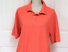 Roundtree & Yorke Pink Peach Coral Orange Lg Men's Shirt Button Up Polo Collar