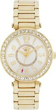 Juicy Couture Ladies' Gold T Bar Stone Set Bracelet Watch.