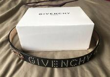 Sold Out Givenchy Studded Logo Embellished Logo Leather Belt RRP £550 Size 95