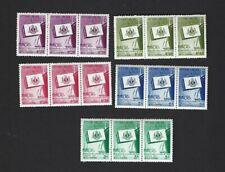 Viet Nam sc#68-72 x3 (1957) Complete MNH