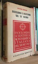 Artemio Ferrario Invenzioni e inventori nel XX secolo Bompiani 1938
