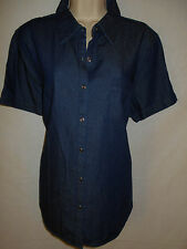 Denim Top XL Shirt 14W Blue NEW Faded Glory Cotton Classic 6m20
