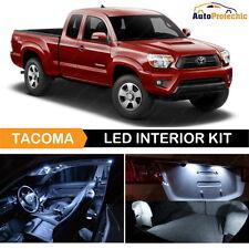 9x LED White Light Interior Package Kit For 2005 - 2015 Toyota Tacoma + License