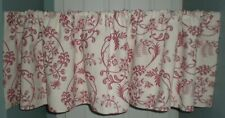 "JCPenney Valance Scrollwork Botanical Brocade Rosewood White 78""W x 18""L 2 avail"
