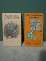1968 First Federal Porcupine Money Machine Dime Quarter Savings Cards Loan Bank