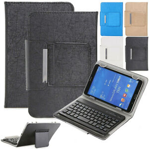 """Universal Wireless Keyboard Leather Case PU Cover For Amazon 7"""" 10""""-inch Tablet"""