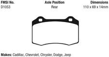 EBC Greenstuff Series Brake Pad Set Rear for 06-16 Jeep Grand Cherokee # DP61788