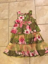"Beetlejuice London Girls Size 8 Floral Tiered Tulle Dress ""Excellent"""