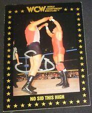 Sid Vicious Signed Auto'd 1991 WCW Rookie Card RC #64 Autographed WWE WWF Sycho