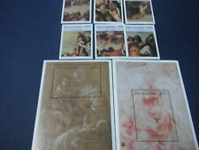 Gambia-Art-Painting-Christmas painting-1996-complete set