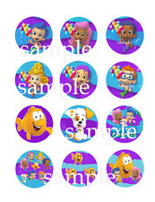 Assorted BUBBLE GUPPIES Edible CUPCAKE Toppers Icing Image Circles 12