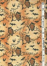 Halloween Boo Owls & Branches Fabric by Springs Creative bty