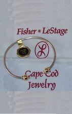 NEW LeStage Cape Cod Bracelet cuff 925 sterling silver 14K, 2 tone made U.S.A.