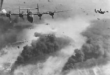 WWII B&W Photo US B-24 Bombers Ploesti Raid  WW2 World War Two USAAF  /5053