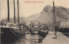 Tarjeta Postal. Alicante. Detalle del Puerto.