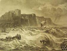 Dieppe/Frankreich.Schiffbruch an der Küste.Holzst.1864