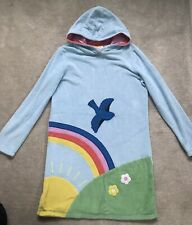 Mini Boden Towelling Hooded Dress  With Rainbow Motive - Age 11-12 Years