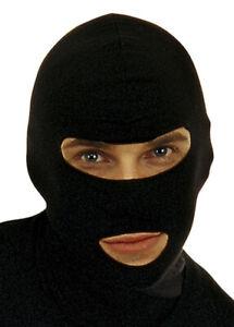 Black Bank Robber Hood Mask
